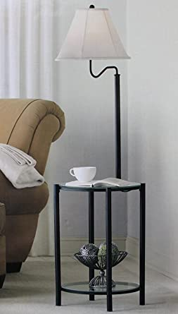 Mainstays glass furniture floor lamp matte black finish amazon mainstays glass furniture floor lamp matte black finish aloadofball