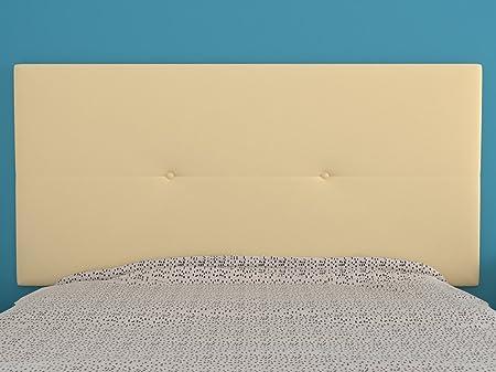LA WEB DEL COLCHON Cabecero de cama tapizado acolchado juvenil Julie 115 x 55 cms. Para camas de 80, 90 y 105 cms. Polipiel color Beige.