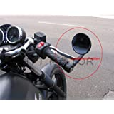 "CNC BLACK 3"" BAR END MIRRORS 1"" HANDLEBAR FOR HARLEY TRIUMPH VICTORY MOTORCYCLE"