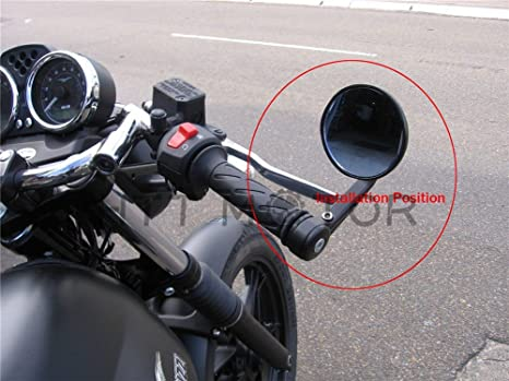 Bar End Mirrors.Amazon Com Billet Cnc Bar End Mirrors 7 8 22 Black For