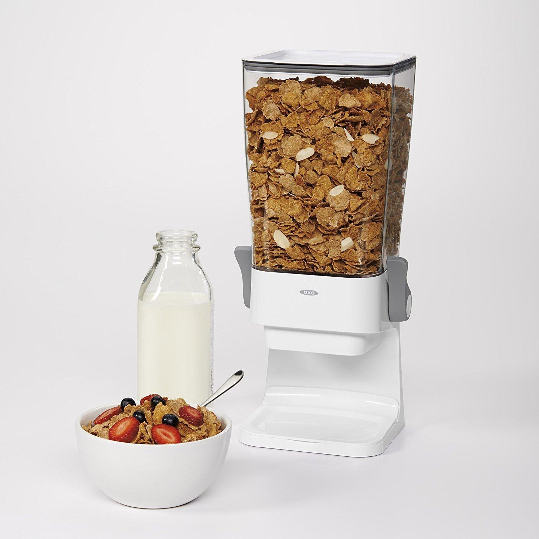OXO Good Grips - Encimera dispensador de cereales, claro/blanco: Amazon.es: Hogar