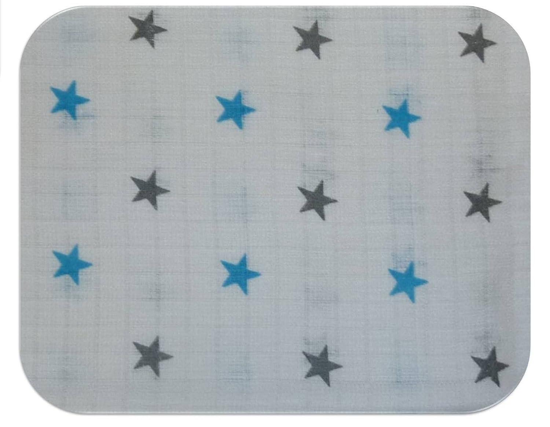 Gasas Impreso 5Pack multicolor para Vómitos paños pañales de tela 70x 80algodón nuevo (5x Osos Cielo Amarillo) Family-Kollektion