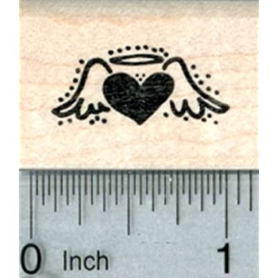 Heart Angel Rubber Stamp, Tiny Size: Arts, Crafts & Sewing