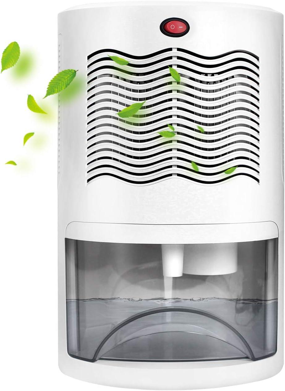 Letsport Dehumidifier 68oz (2000ml) Upgraded 480 Sq. Ft Small Dehumidifier for Home Basement Bathroom Bedroom Closet Wardrobe RV, Portable Electric Mini Dehumidifier with 24-34oz/Day Dehumidification