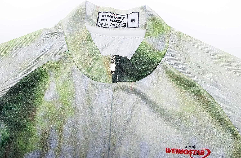 Mens Cycling Jerseys Tops 3D Print Biking Shirts Short Sleeve Full Zipper Bicycle Jacket Pockets Lycra Cuff