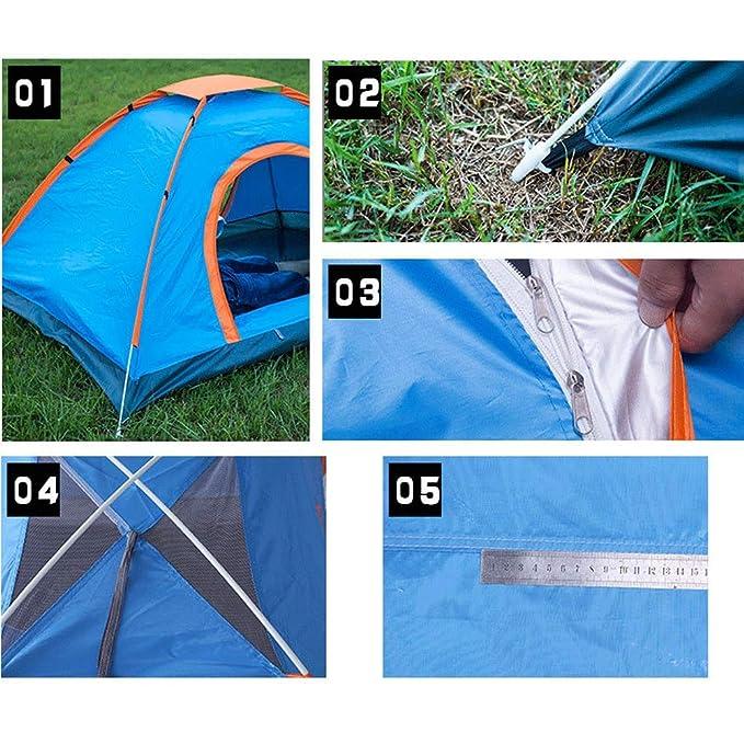 Camping et randonnée Tentes Adenlbahr Tente De Camping 2-4 Personnes Instant Pop Up Dome Automatique Facile Tente Couche Simple