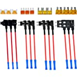 4 Types 12V Add-a-Circuit Adapter & Fuse Kit - Muhize Fuse Tap Fuse Holder with MICRO2 Mini ATC ATS Low Profile Tap…