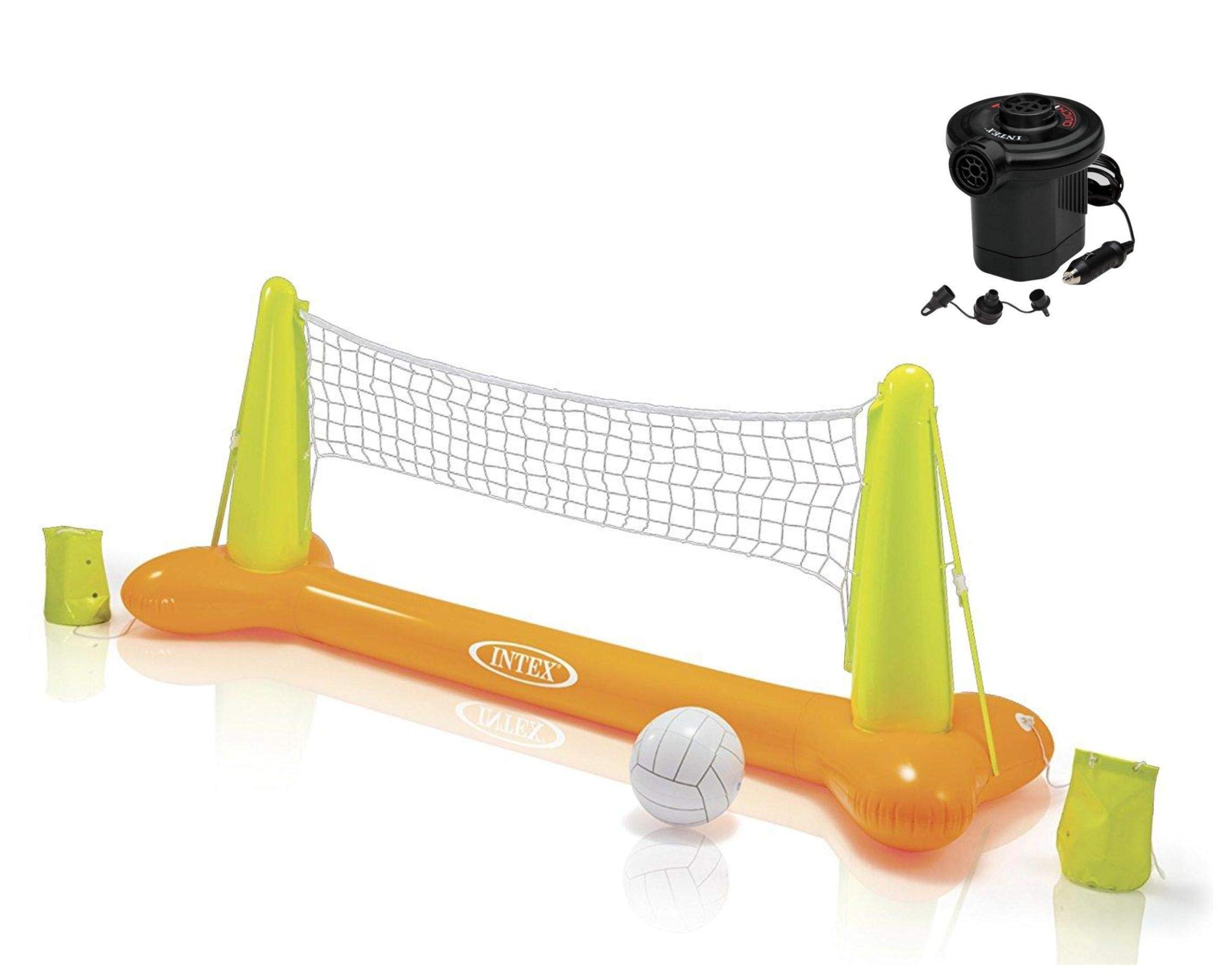 Intex Pool Volleyball Game, 94'' X 25'' X 36'' (Volleyball Net with Pump)
