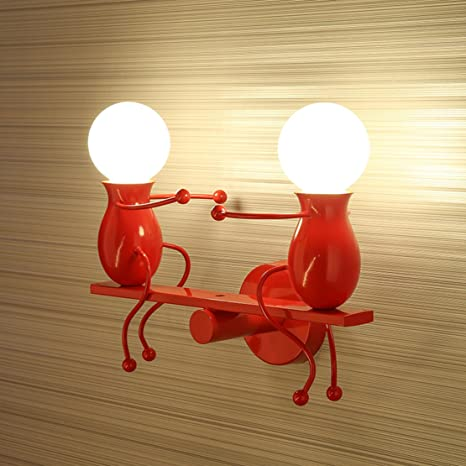 SOUTHPO LED Wall Light Fixtures Creative Seesaw Double Little People ...