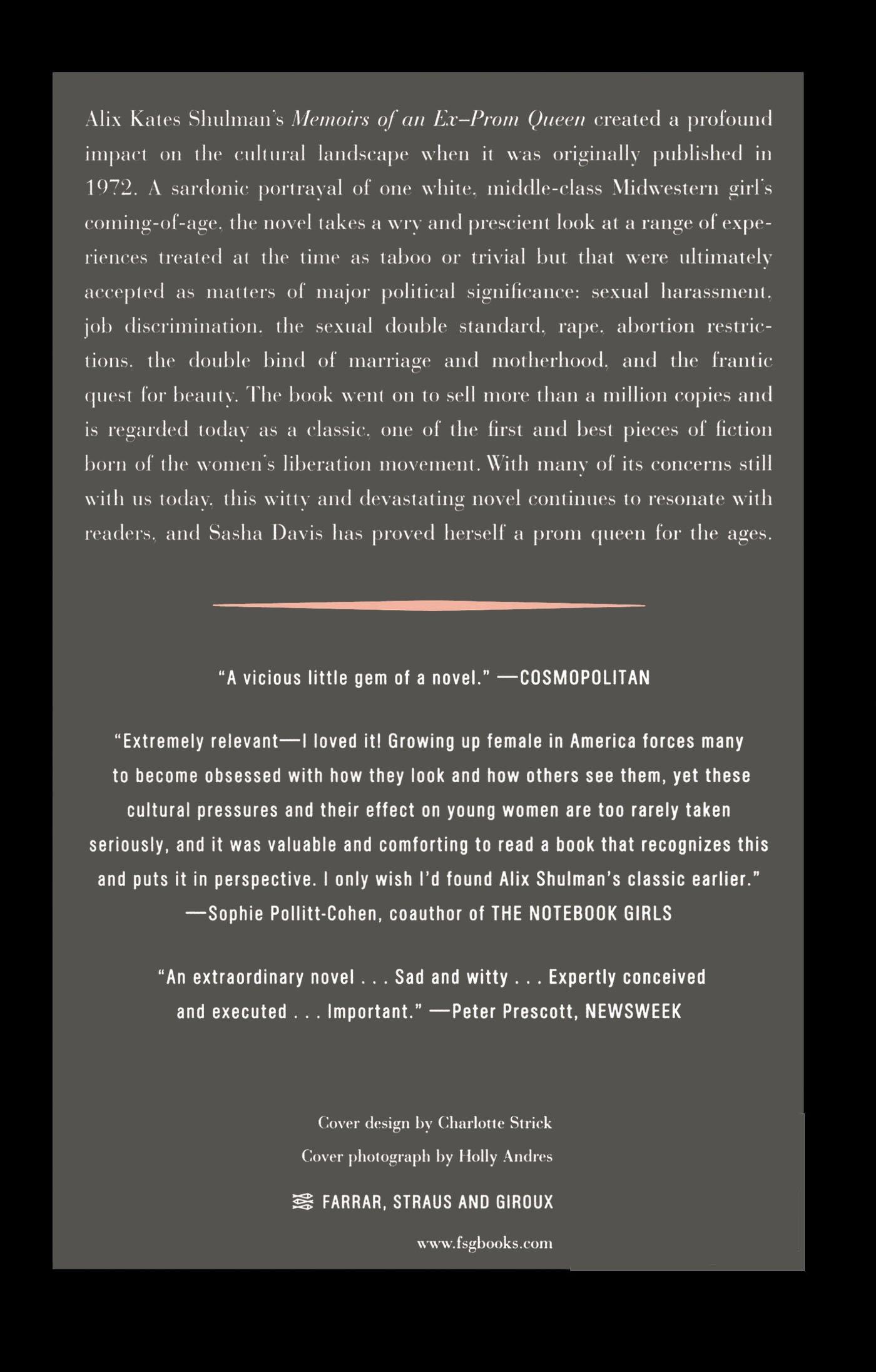 Memoirs Of An Exprom Queen: A Novel: Alix Kates Shulman, Jennifer  Baumgardner: 9780374530792: Amazon: Books