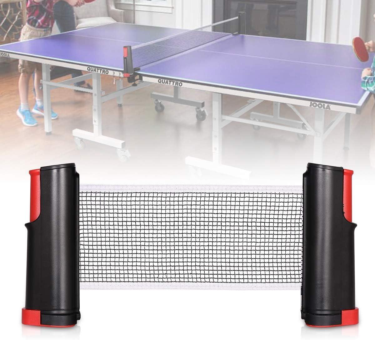 Bilisder Ping Pong Redes, Retráctiles de Ping Pong Pong de Reemplazo de la Red de Abrazaderas Ajustable Longitud 175 cm x 15 cm