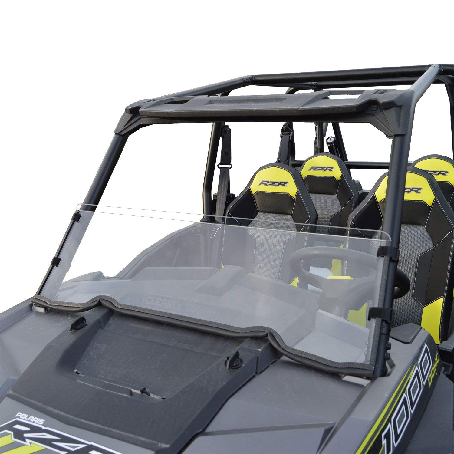 Clearly Tough Polaris RZR 1000 Windshield - Half -Scratch Resistant- (2015 & Newer 900).The Ultimate in Side by Side Versatility!Premium Polycarbonate w/Hard Coatmade in America!! Polaris RZR 1000 half windshield