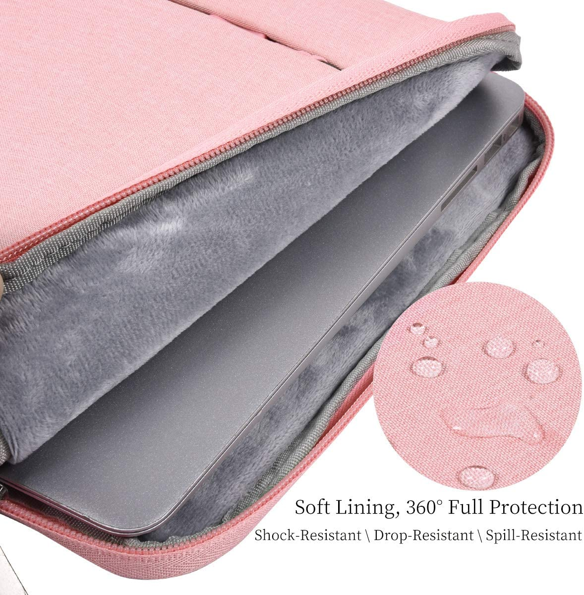 MacBook Air 13 A1932 Waterproof Men Women Laptop Briefcase Organizer for Dell XPS 13 9380 Lenovo Chromebook C330 Gray 11.6 13 Inch Laptop Sleeve Bag Dell Surface ASUS HP Chromebook Carrying Case