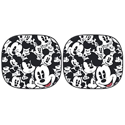 Plasticolor 003780R01 Disney Mickey Expressions Magic Spring Sunshade, 2 Piece: Automotive