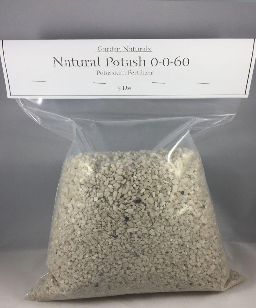 Natural Potash 0-0-60 Fertilizer 25 Pounds (Garden Naturals Brand)