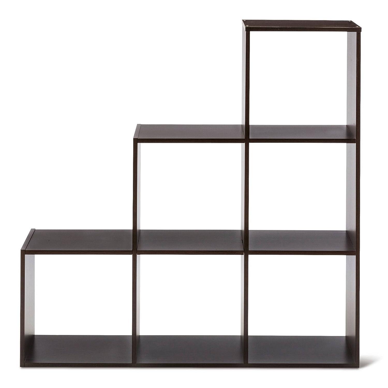 Amazoncom Room Essentials 3 2 1 Cube Organizer Shelf 11 Espresso