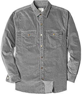 7c49590f9f9c0 MOCOTONO Mens Cotton Stretch Corduroy Shirt Long Sleeve Casual Button Down  Jackets