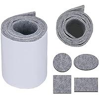 """Heavy Duty Vilt Strip Roll - DIY Zelfklevend Meubelpad, Vloerbeschermer, Vilt Stoel Pads, 39,37"""" x 3,93"""", Lichtgrijs"""