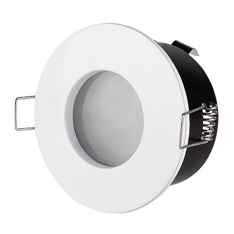 Soporte para foco empotrable MR16 Bombillas LED PAR16 redondo blanco 75 mm