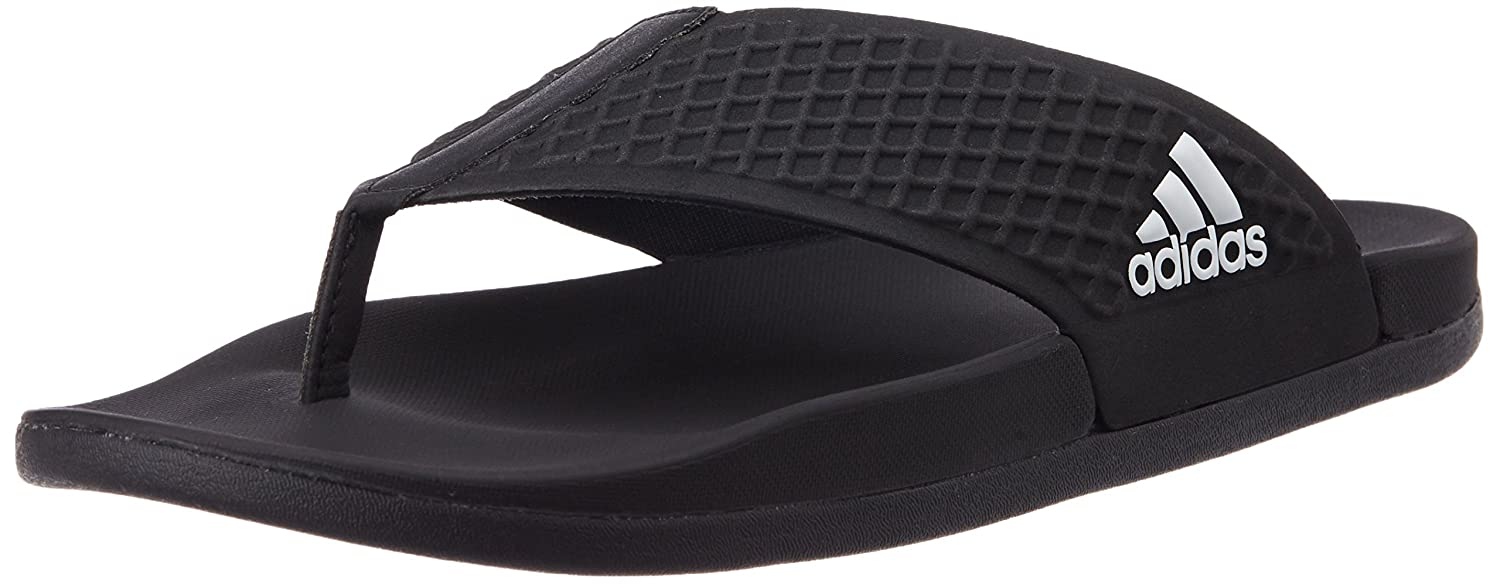 39d3bcde7fca Adidas Men s Adilette Sc+ Thong Black Flip-Flops and House Slippers - 12  UK  Buy Online at Low Prices in India - Amazon.in