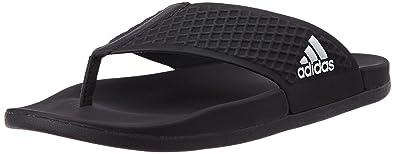 adidas Men\'s Adilette Sc+ Thong Black Flip-Flops and House ...