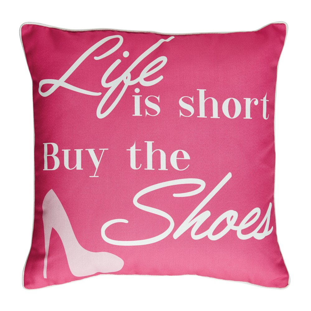 Campus Linens Buy the Shoes Decorative Pillow for College Dorm Bedding
