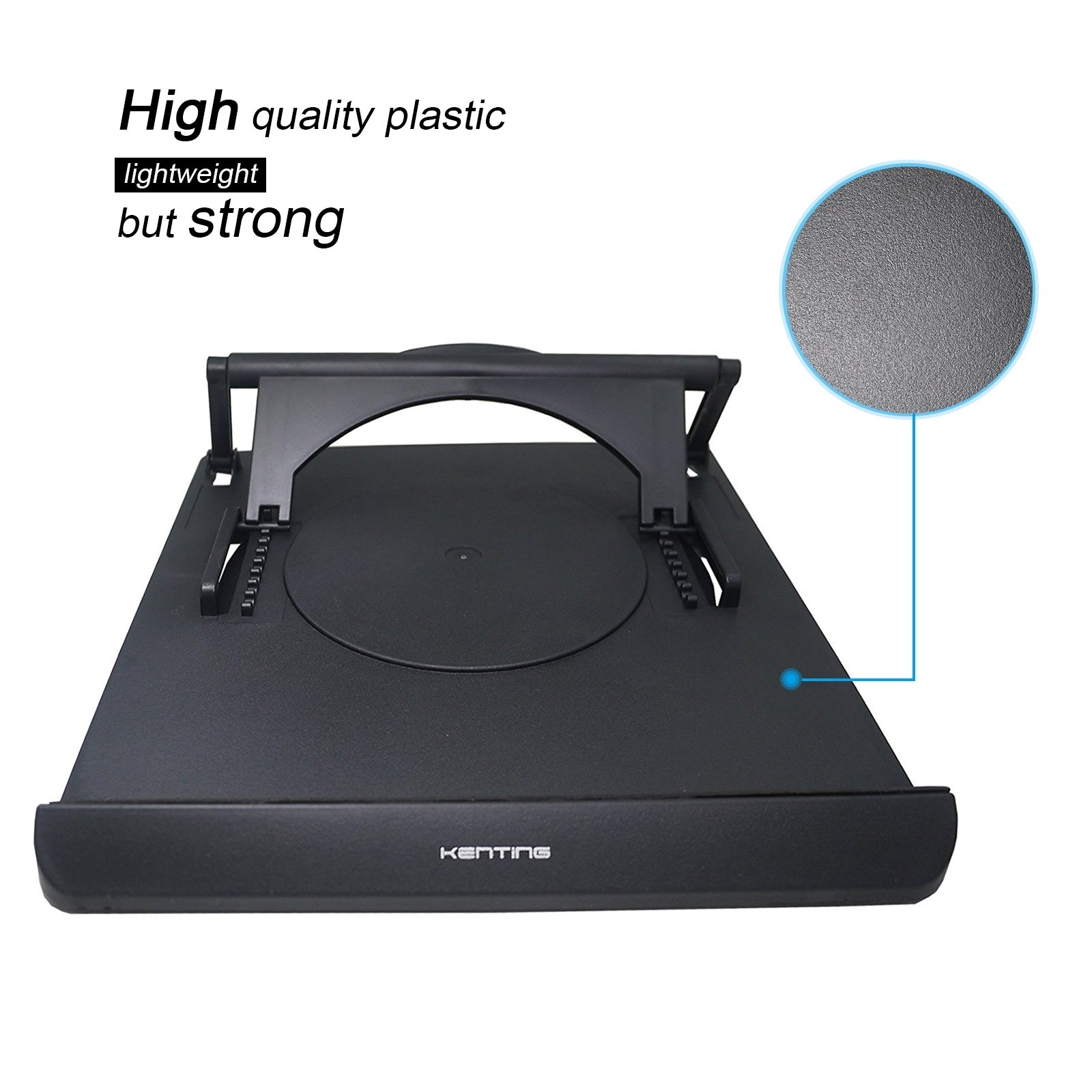 Light Box Pad Stander Kenting Multifunction Rotate in 360° Adjusting 9 Angle Points Skidding Prevented Tracing Holder for Huion/Litup LED Light Table A4 LB4 L4S - Black