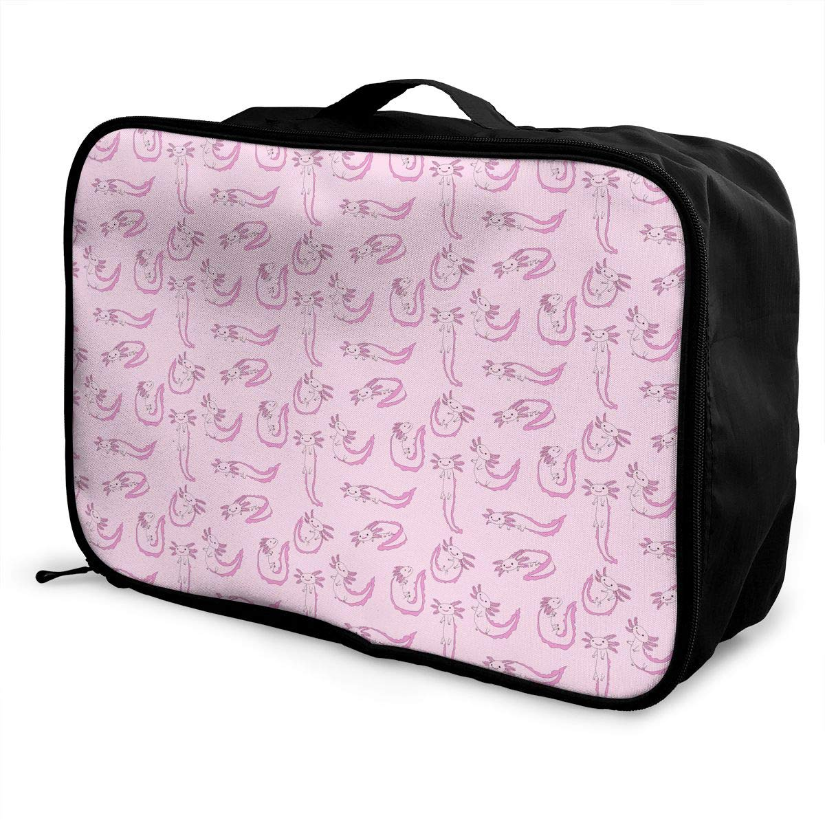 Travel Luggage Duffle Bag Lightweight Portable Handbag Pink Fox Pattern Large Capacity Waterproof Foldable Storage Tote
