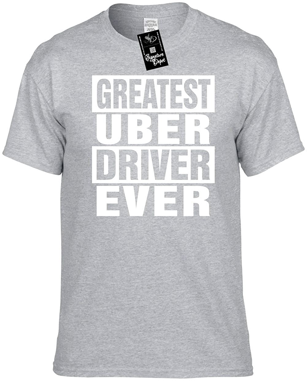 aac7cc3eeda Amazon.com  Mens Funny T-Shirt (Greatest UBER Driver Ever) Unisex Men s  Shirt  Clothing
