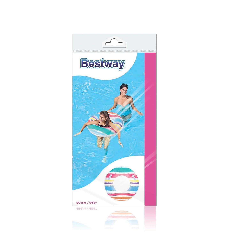 Bestway 8321686 Flotador Rosco con Agarraderas 91cm: Amazon.es: Juguetes y juegos