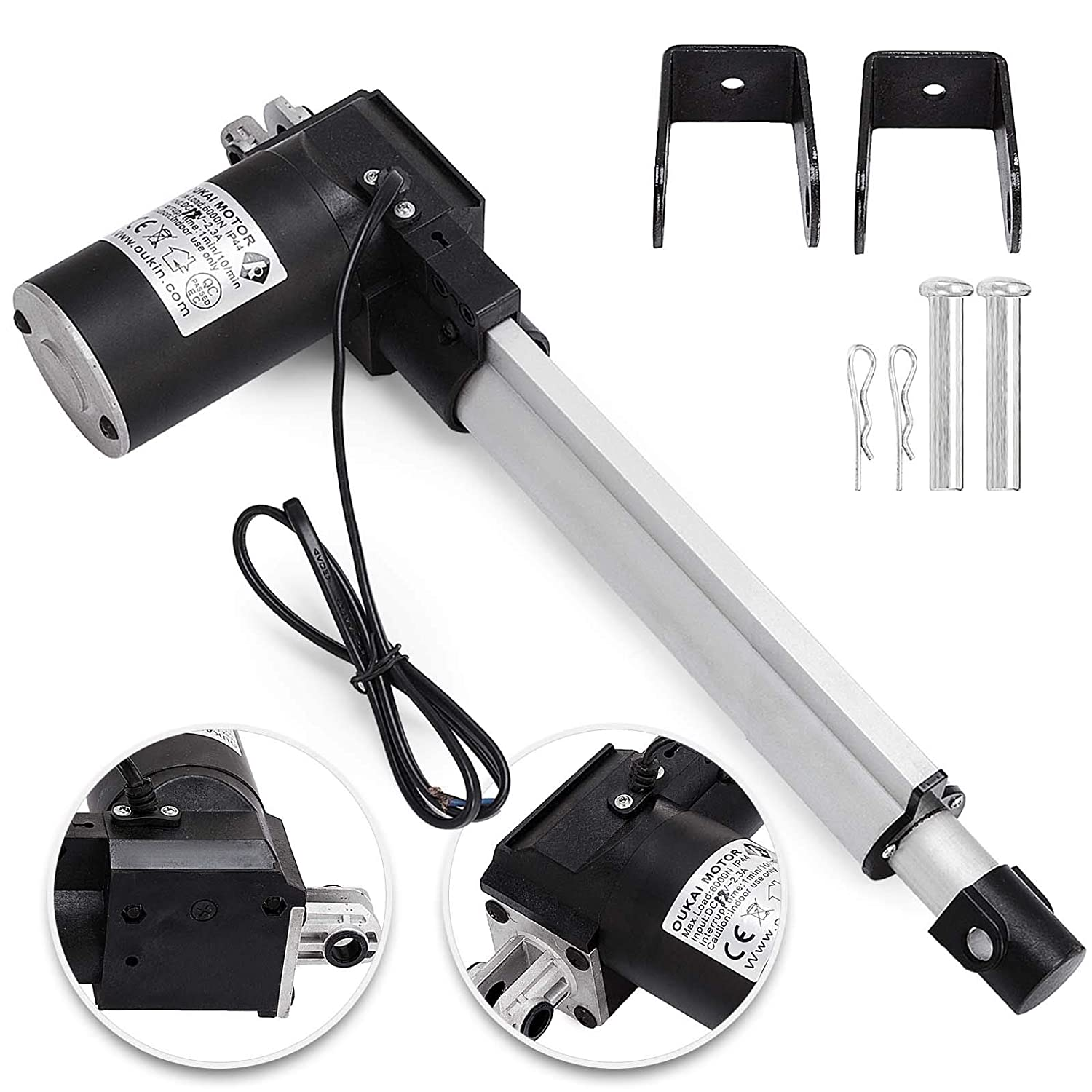 "6/"" Stroke Linear Actuator DC12V Electric Motor 900N Recliner Sturdy Aluminum"