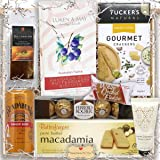 Gourmet Gift Hamper for Him & Her – Australian Food Gifts with Macadamia Butter Shortbread, Chocolate, Gourmet Crackers and Hand-Cream