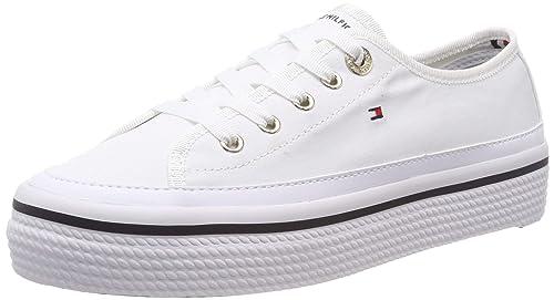 Tommy Hilfiger Corporate Flatform Sneaker, Sneakers Basses Femme