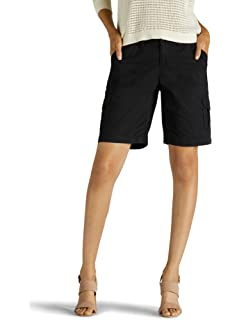 LEE Womens Petite Relaxed Fit Melody Knit Waist Bermuda Short