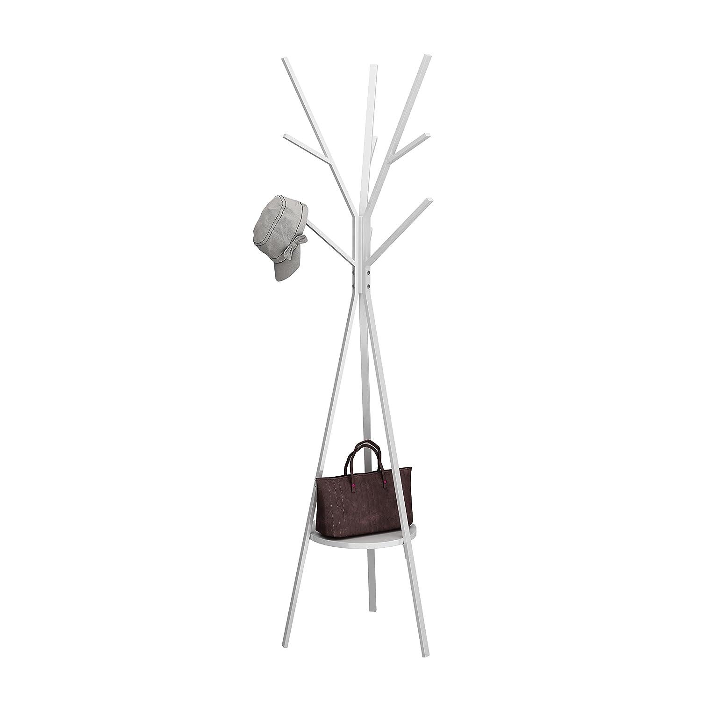 MULSH Standing Coat Rack Hat Hanger Coat Rack Hooks Coat Rack Hall Tree Entryway Standing Hat Jacket Coat Hanger Rack in White,17.72 x17.72 x73.46 WxDxH