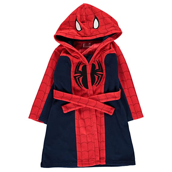 Spiderman Childrens Hooded Robe Dressing Gown Nightwear Kids by ...