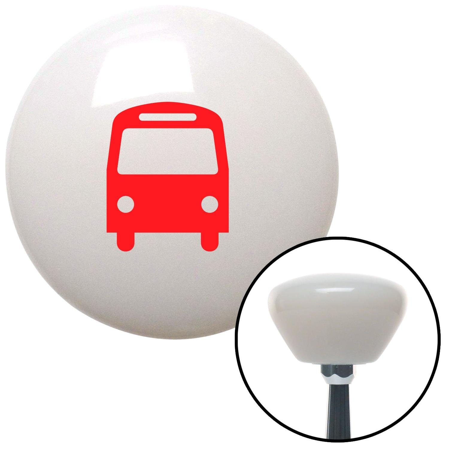 Red Bus American Shifter 158607 White Retro Shift Knob with M16 x 1.5 Insert