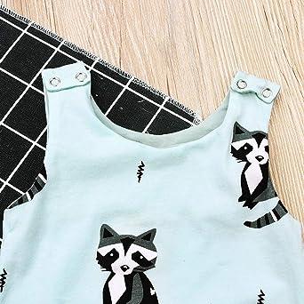 Julhold S/äugling Kleinkinder Baby Kindermodus L/ässig /Ärmellos Tiere Gedruckt Lose Strampler Outfits Kleidung 0-24 Monate