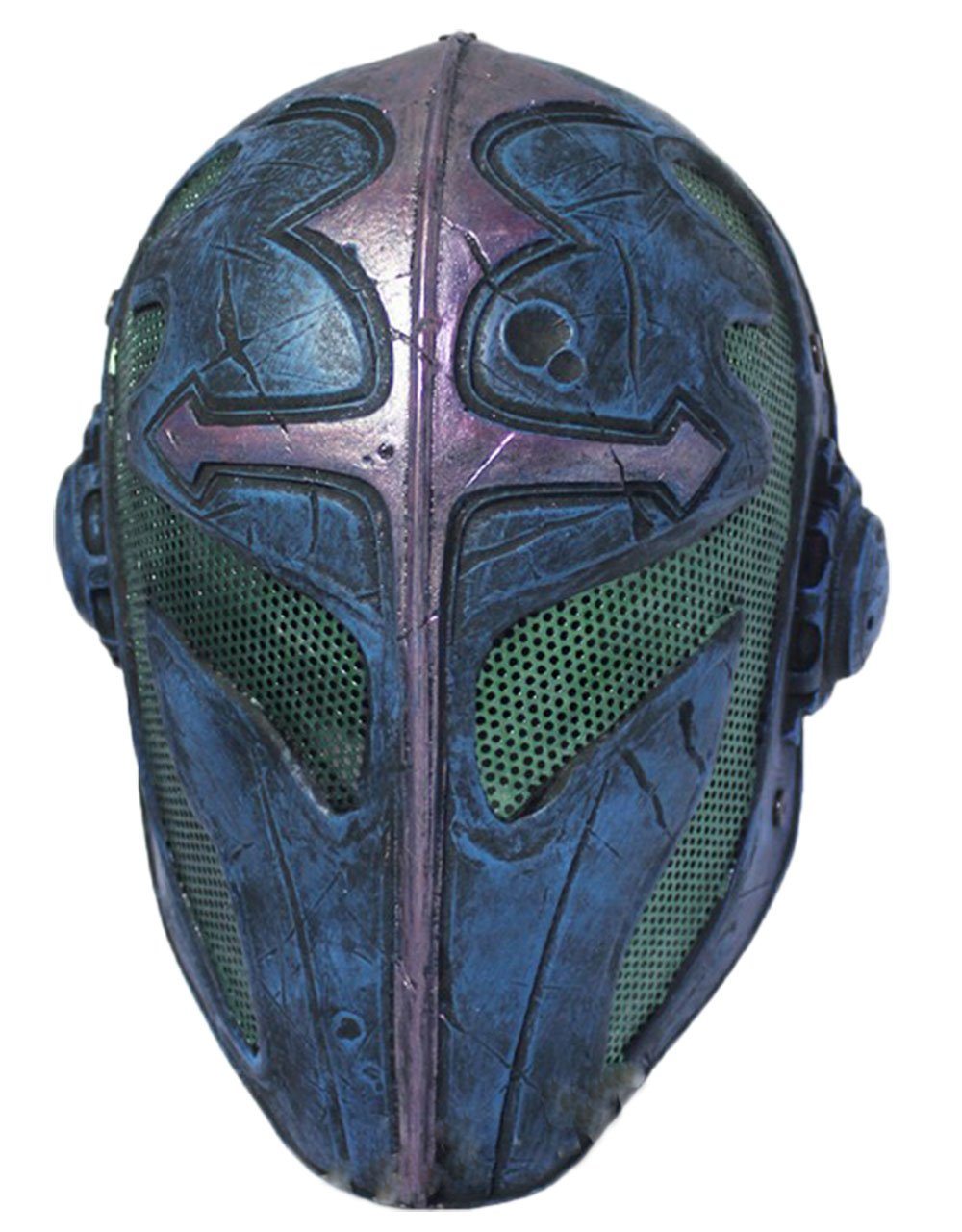 OSdream Glass Fiber + Resin Protective Mask for Airsoft Paintball Display/CS Protection (Blue) by OSdream