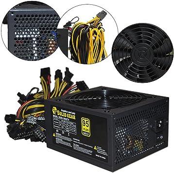 US 1600W ATX Mining Power Supply For 6 GPU Eth BTC Rig Ethereum Coin Miner