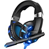 RUNMUS Gaming Headset Xbox One Headset with Mic & LED Light, 7.1 Surround Sound Stereo, Compatible with PC, PS4, Xbox One Controller(Adapter Not Included), Nintendo Switch