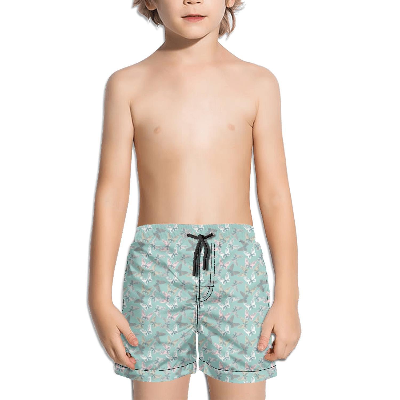 Websi Wihey Boy's Quick Dry Swim Trunks The Butterfly Art Fashione Shorts