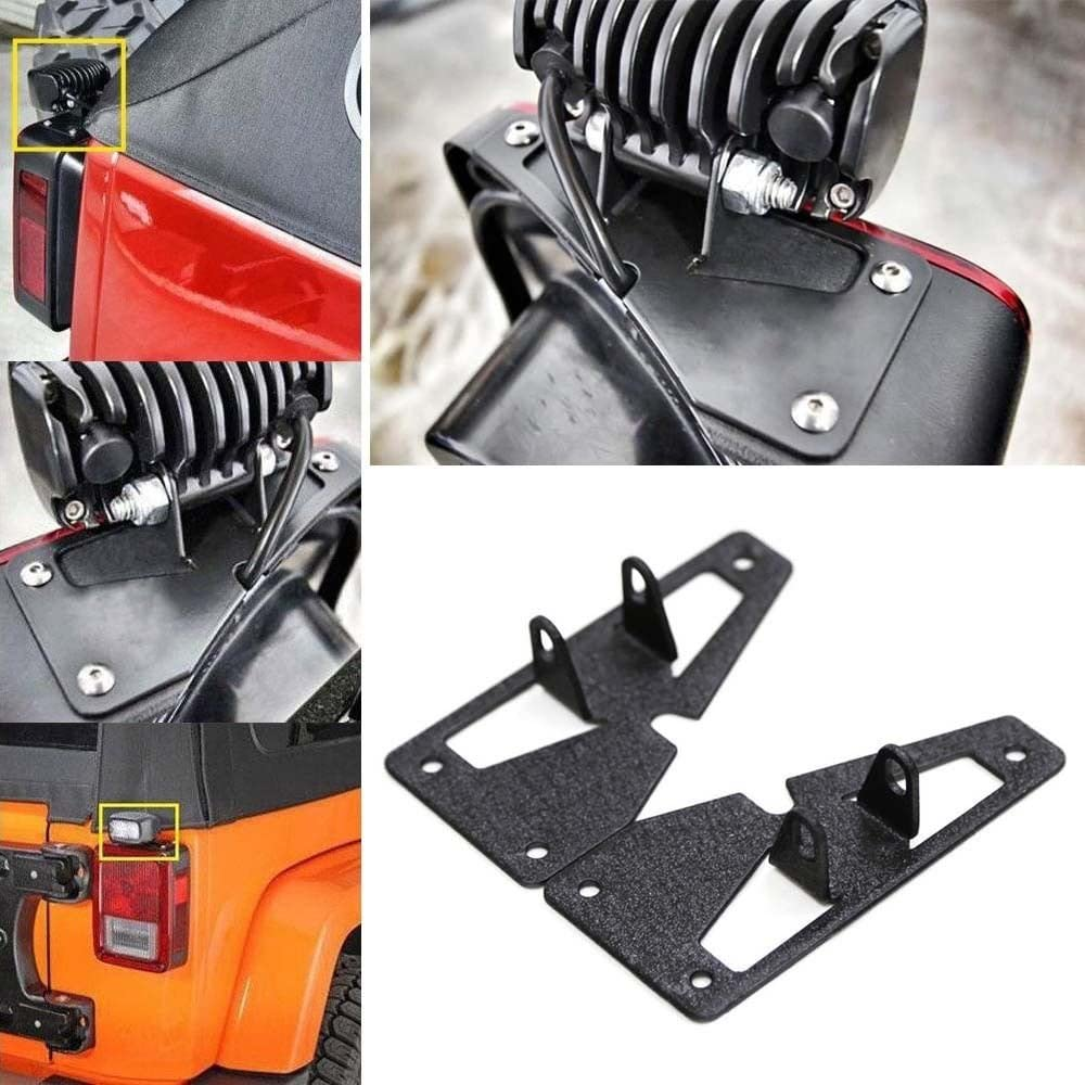 1 Pair AUXMART Tail Light Mounting Brackets for LED Light Bar Fit Jeep Wrangler JK Unlimited 2007-2017