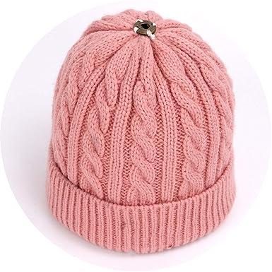 a5b5a240 Children's Pompon Knit Beanie Hat Autumn Winter Cute Soft Cap Boy ...