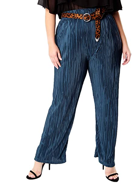 Lovedrobe GB Women/'s Check Wide Leg Trousers Ladies Plus Size 16-26
