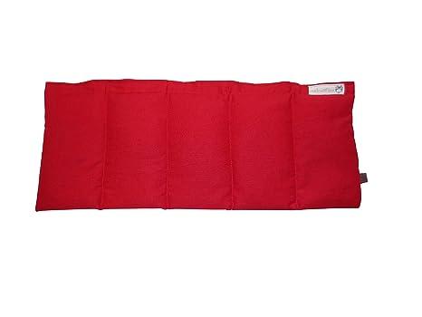 Cojín de huesos de cereza COJÍN de calor Rojo Aprox. 50 x 20 ...