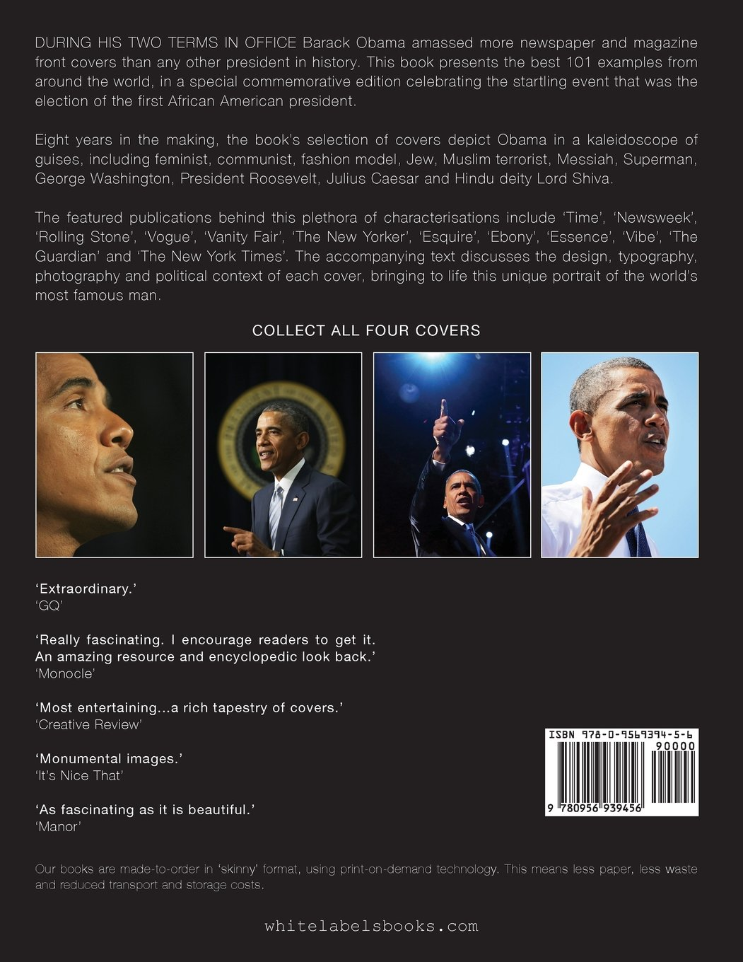 Obama: 101 Best Covers: 'A New Illustrated Biography Of The Election Of America's 44th President (Paperback)'