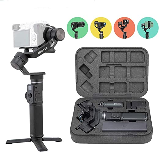 FeiyuTech Official G6 Max Gimbal Handheld 3 Axis Stabilizer 4-in-1 for Sony Alpha Mirrorless Cameras a6300 a6400 for GoPro HERO 8 series Sport Camera for iPhone 11 Pro Max iPhone XR XS Max Smartphones