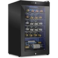 Schmecke 24 Bottle Compressor Wine Cooler Refrigerator w/Lock   Large Freestanding Wine Cellar   41f-64f Digital…