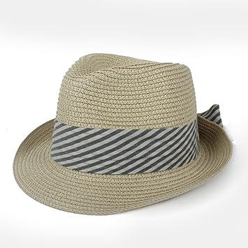 AINUO Gorras Sombreros de Sol para Mujer para Lady Beach Sombrero de Panamá con Bowknot de Moda (Color : Beige, tamaño : 56-58cm): Amazon.es: Jardín